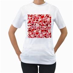 Pretty Hearts  Women s T-Shirt (White)