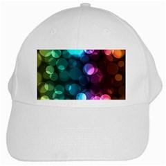 Deep Bubble Art White Baseball Cap