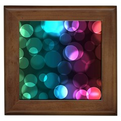 Deep Bubble Art Framed Ceramic Tile