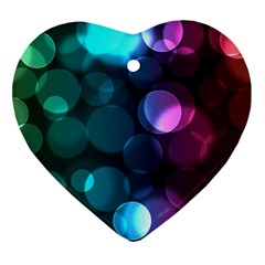 Deep Bubble Art Heart Ornament