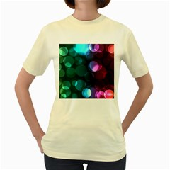 Deep Bubble Art Women s T-shirt (Yellow)