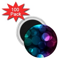 Deep Bubble Art 1 75  Button Magnet (100 Pack)