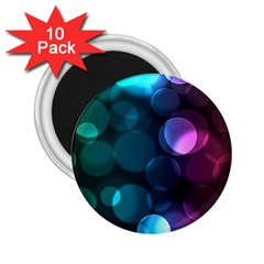 Deep Bubble Art 2.25  Button Magnet (10 pack)