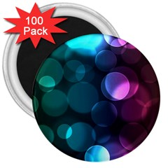 Deep Bubble Art 3  Button Magnet (100 pack)