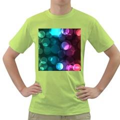 Deep Bubble Art Men s T-shirt (Green)