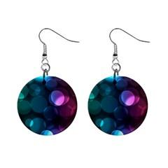 Deep Bubble Art Mini Button Earrings