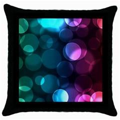 Deep Bubble Art Black Throw Pillow Case