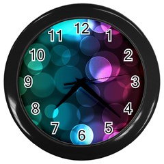 Deep Bubble Art Wall Clock (Black)