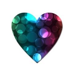 Deep Bubble Art Magnet (Heart)