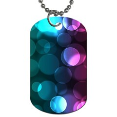 Deep Bubble Art Dog Tag (one Sided)