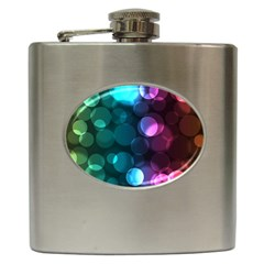 Deep Bubble Art Hip Flask