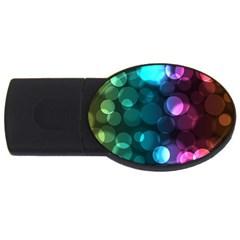 Deep Bubble Art 2GB USB Flash Drive (Oval)