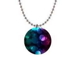 Deep Bubble Art Button Necklace