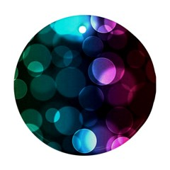 Deep Bubble Art Round Ornament (two Sides)