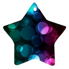 Deep Bubble Art Star Ornament (Two Sides)