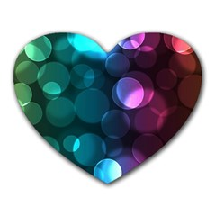 Deep Bubble Art Mouse Pad (Heart)