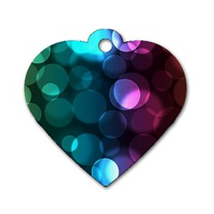 Deep Bubble Art Dog Tag Heart (One Sided)