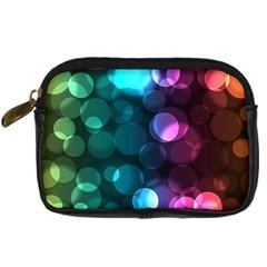 Deep Bubble Art Digital Camera Leather Case