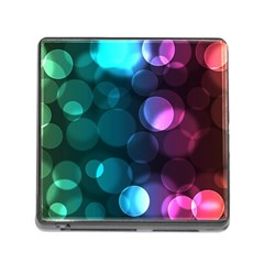 Deep Bubble Art Memory Card Reader with Storage (Square)