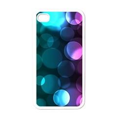 Deep Bubble Art Apple iPhone 4 Case (White)