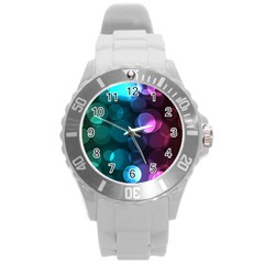 Deep Bubble Art Plastic Sport Watch (Large)