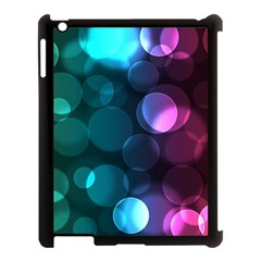 Deep Bubble Art Apple iPad 3/4 Case (Black)