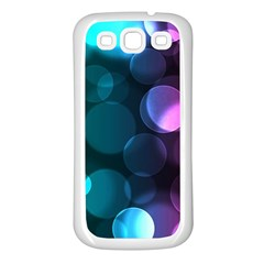 Deep Bubble Art Samsung Galaxy S3 Back Case (white)
