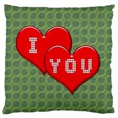 Hearts 2 Large Cushion Case (Single Sided)