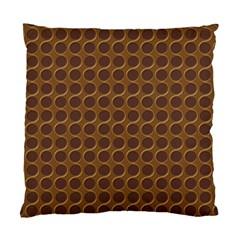 Golden Round Cushion Case (single Sided)