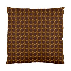Golden Round Cushion Case (Two Sided)