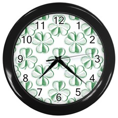 Shamrock Wall Clock (Black)