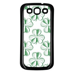 Shamrock Samsung Galaxy S3 Back Case (Black)