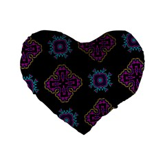 Black Beauty 16  Premium Heart Shape Cushion