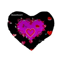 Valentine 16  Premium Heart Shape Cushion