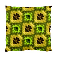 Yellow Green Pattern Cushion Case (Two Sided)