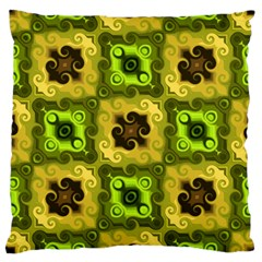 Yellow Green Pattern Large Cushion Case (Single Sided)
