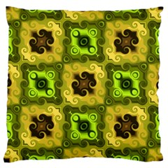 Yellow Green Pattern Large Cushion Case (two Sided)