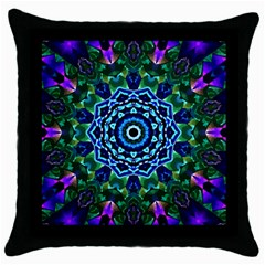 Crystal Like Black Throw Pillow Case