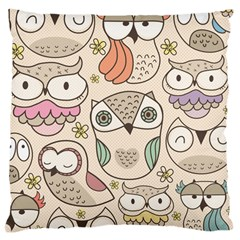 Owl Pattern Large Cushion Case (two Sided)