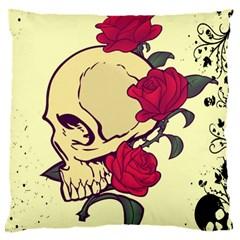 Death Skeleton Large Cushion Case (Single Sided)