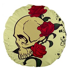 Death Skeleton 18  Premium Round Cushion