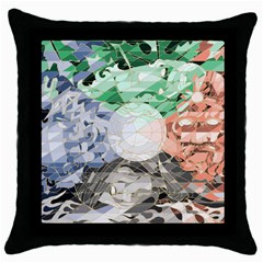 4 season Black Throw Pillow Case