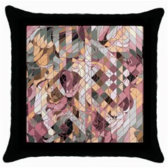 woman Black Throw Pillow Case