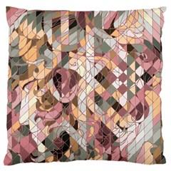 woman Large Cushion Case (Single Sided)