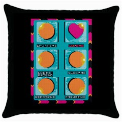 love bottom  Black Throw Pillow Case