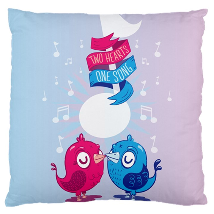 Love Birds Large Cushion Case (Two Sided)