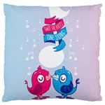 Love Birds Large Cushion Case (Two Sided)  Back