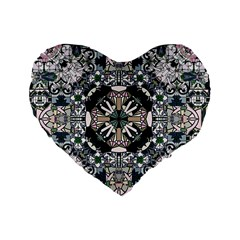 Stained Glass 16  Premium Heart Shape Cushion