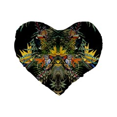 Jungle Fever 16  Premium Heart Shape Cushion