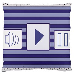 Music time  Large Cushion Case (Two Sided)